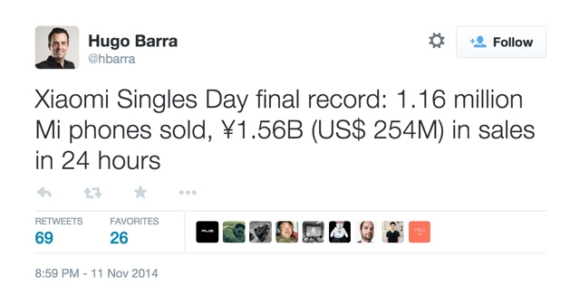 Xiaomi-Singles-Days-Sales-Hugo-Barra