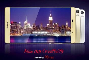 הוכרז: Huawei P8 Max – בעל מסך 6.8 אינץ' ענק וסוללה גדולה במיוחד