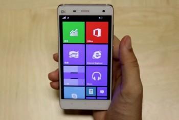 מערכת ההפעלה ווינדוס 10 מוצגת בוידאו על גבי סמארטפון Xiaomi Mi 4