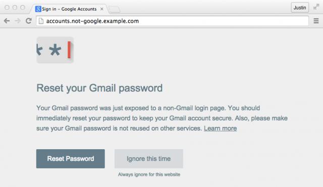 התראה של Gmail במחשב לאחר נפילה בחכה של נסיון דיוג