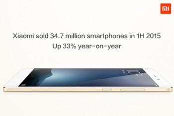 Xiaomi מכרה 35 מיליון סמארטפונים במחצית הראשונה של השנה