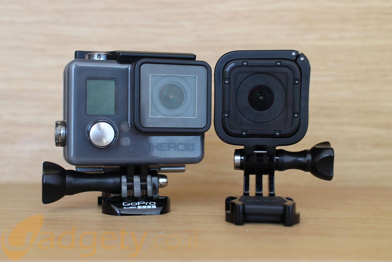 מצלמות GoPro Hero 4 Session ו-Hero+LCD