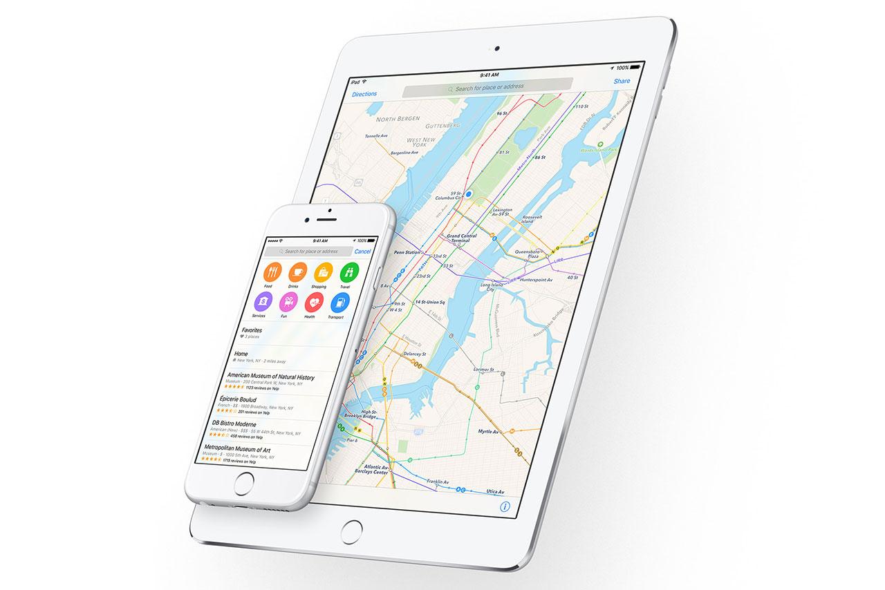 מפות אפל ב-iOS 9