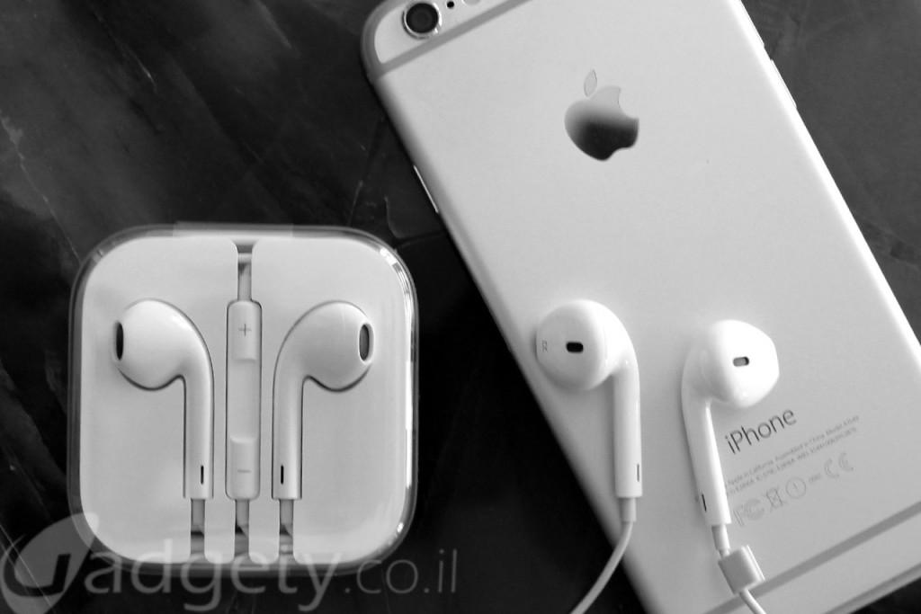 אוזניות EarPods של אפל (צילום: גאדג'טי)