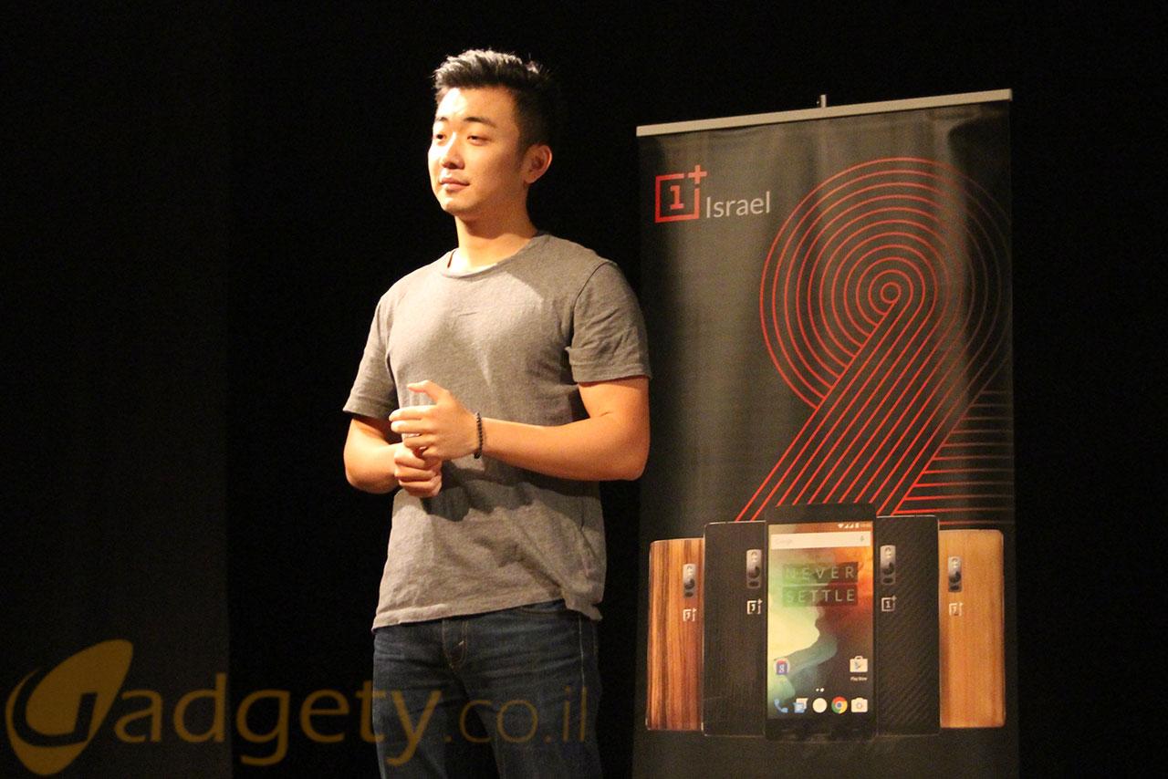 מייסד OnePlus, קארל פיי, בישראל (צילום: גאדג'טי)