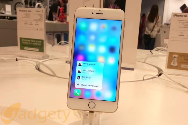 מנגנון 3D Touch באייפון 6S (צילום: גאדג'טי)