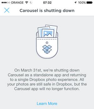 Carousel shutting down
