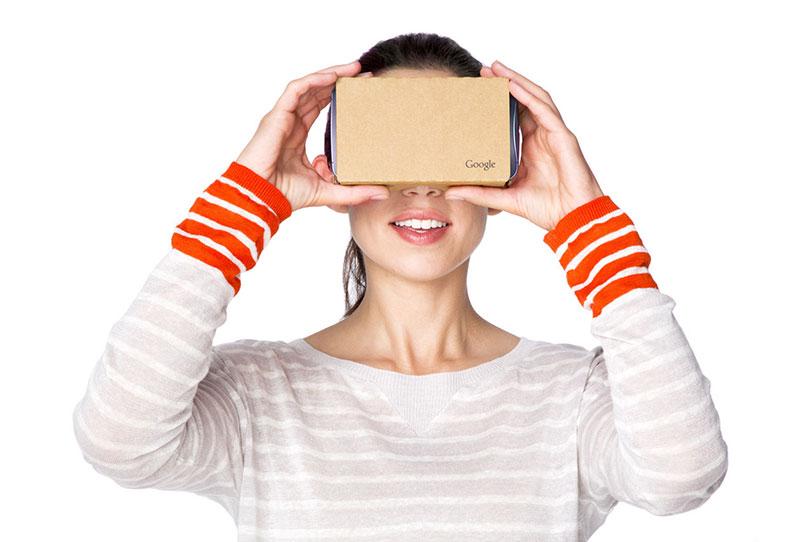משקפי מציאות מדומה Google cardboard