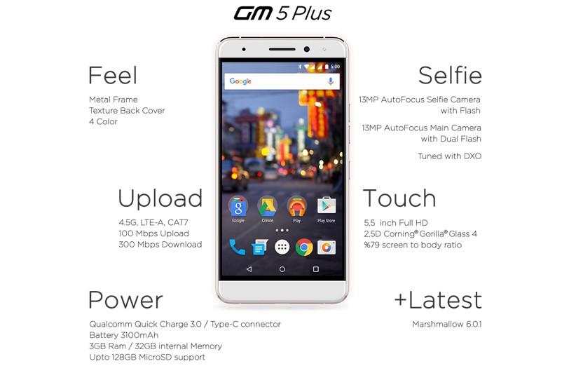 General Mobile GM5 Plus 2