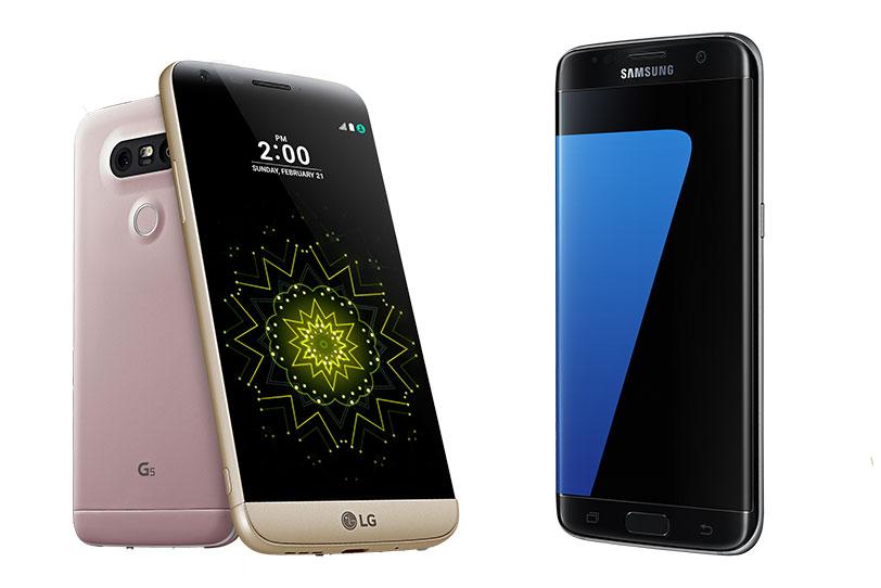 LG G5 מול Samsung Galaxy S7