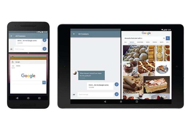 ריבוי חלונות ב-Android N (קרדיט: Google)