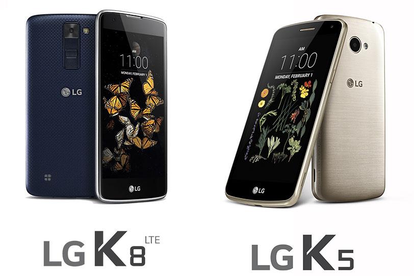 LG K8 ו-LG K5