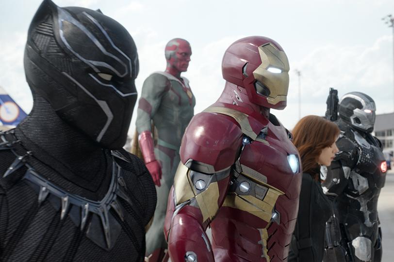 """צוות איירון-מן (מתוך """"קפטן אמריקה: מלחמת האזרחים"""")"""