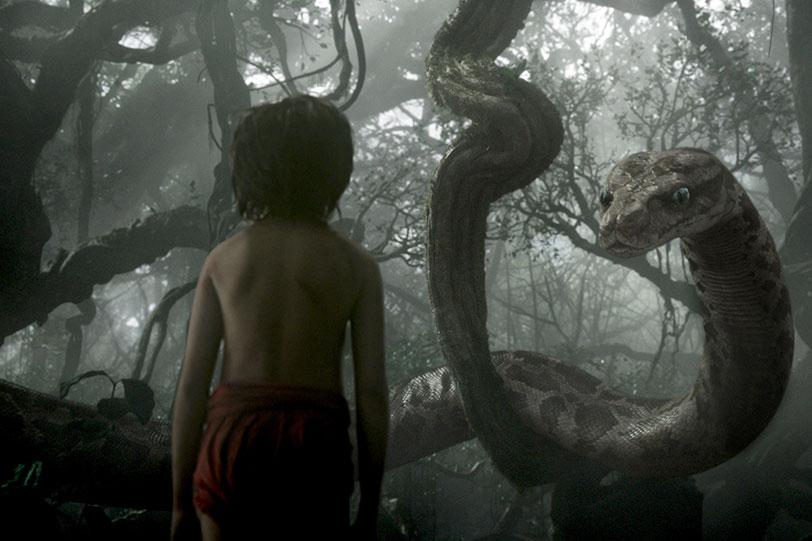 """סקרלט ג'והנסון כנחש קא (מתוך: """"ספר הג'ונגל"""")"""