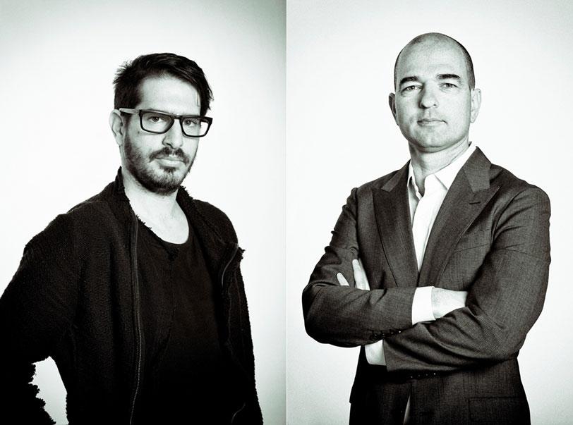 """מימין לשמאל: מנכ""""ל סירין לאבס טל כהן ונשיא החברה משה חוגג"""