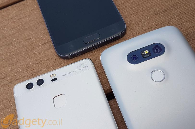 חיישני טביעות אצבע ב-Galaxy S7, Huawei P9 ו-LG G5