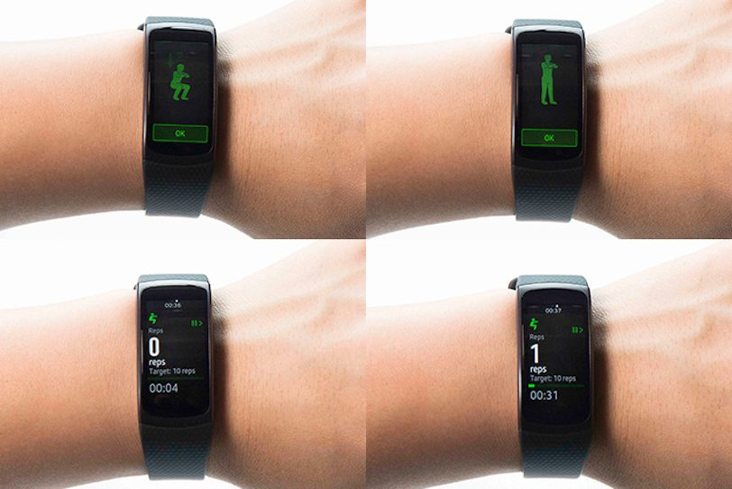 Samsung Gear Fit 2 Exercise