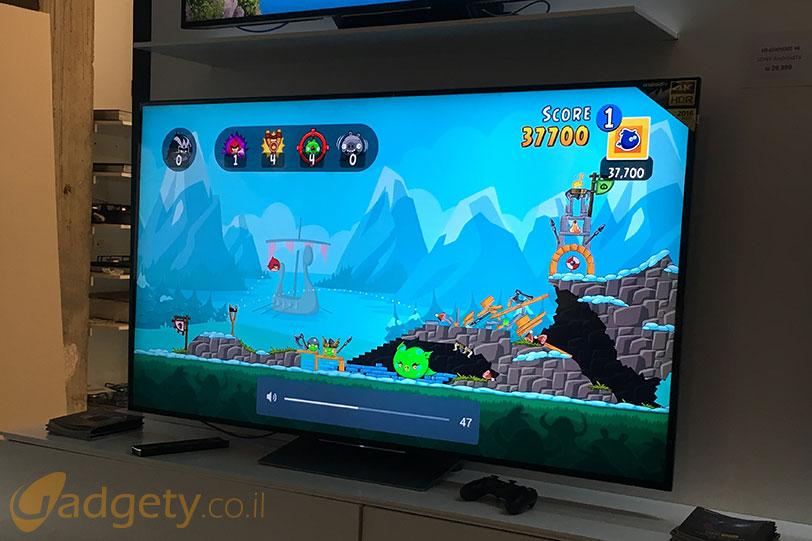 משחקים בהזרמה מהסמארטפון לטלויזיות סוני 2016 (צילום: גאדג'טי)