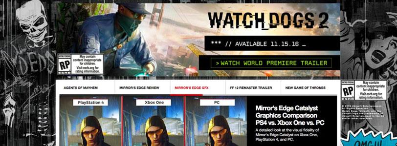 התמונה שהודלפה לפרסומת של Watch Dogs 2 (מקור: IGN דרך Eurogamer)