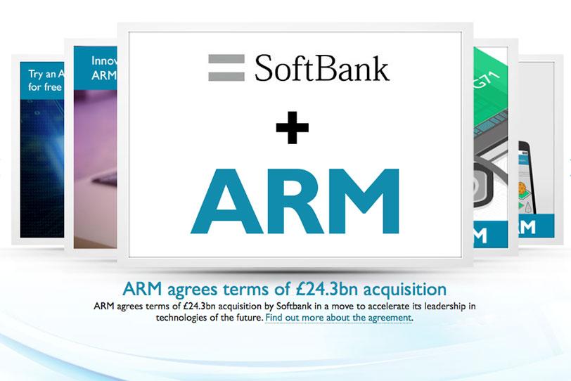 סופטבנק רוכשת את ARM