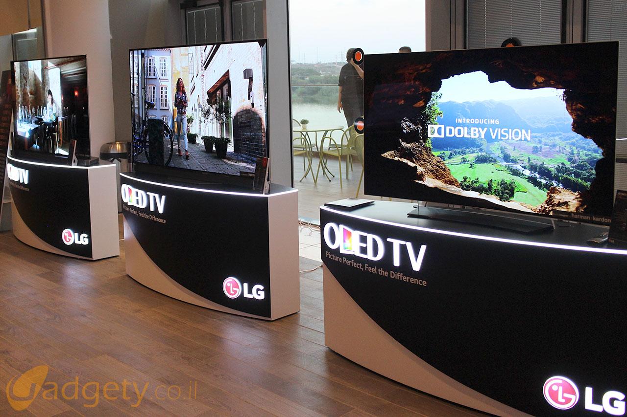 טלויזיות LG OLED 4K לשנת 2016 (צילום: רונן מנדזיצקי, גאדג'טי)