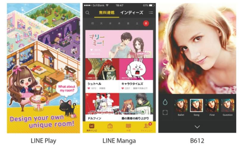 כמה מהאפליקציות של Line. מתוך מסמכי ההנפקה