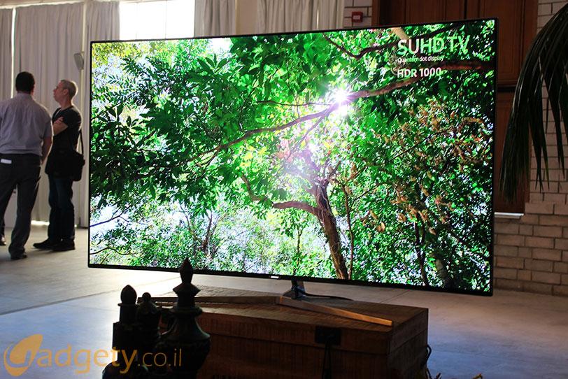טלויזיית Samsung SUHD מדגם KS9500 לשנת 2016 (צילום: גאדג'טי)