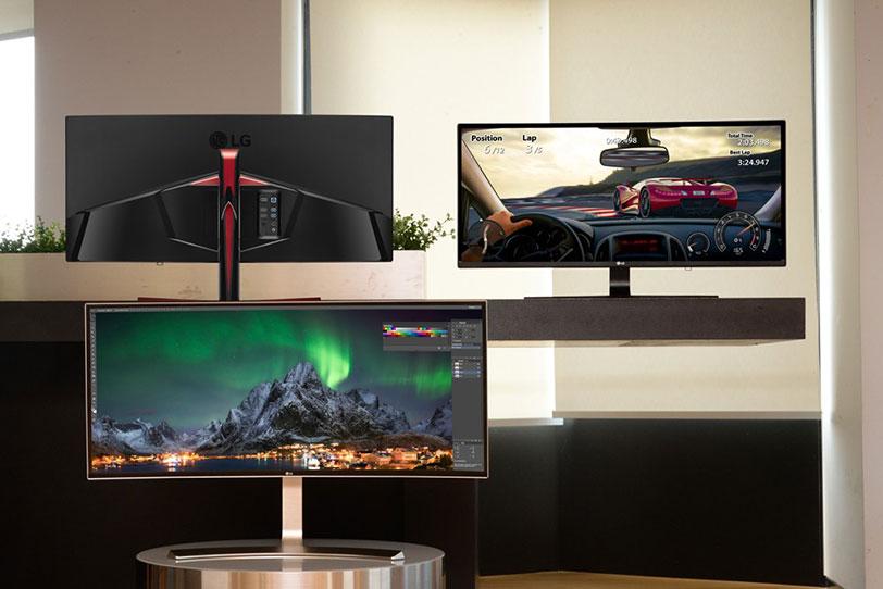 מסכי מחשב אולטרה רחבים של LG
