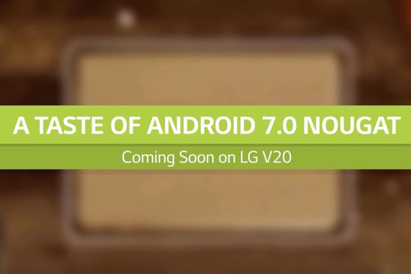 טיזר אנדרואיד 7 ל-LG V20 (תמונה: LG)