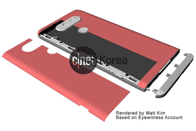 תמונת הדמיה מנגנון סוללה נשלף ב-LG V20