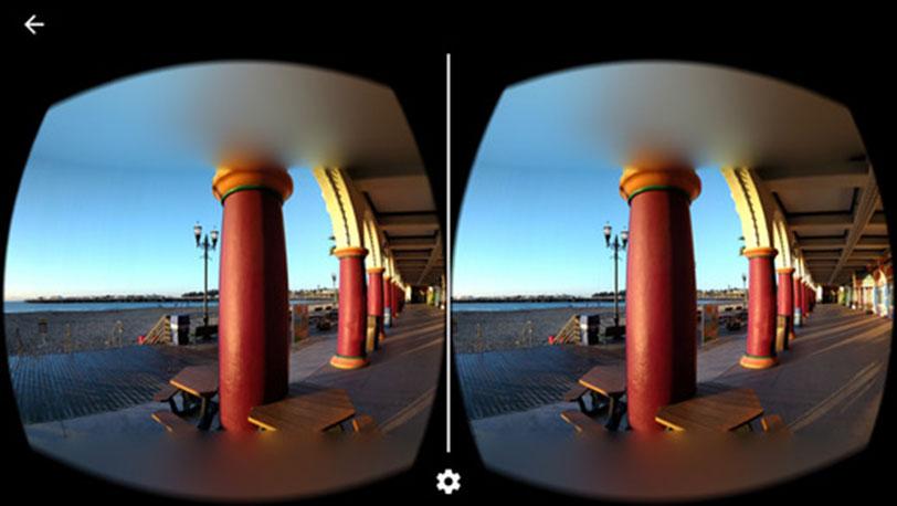 צפייה דרך משקפי גוגל קארדבורד ב-iOS