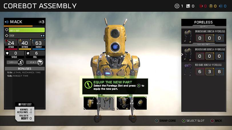 רוצים להחליף את צוות הרובוטים המלווה אתכם? עליכם לחזור לנקודת השיגור
