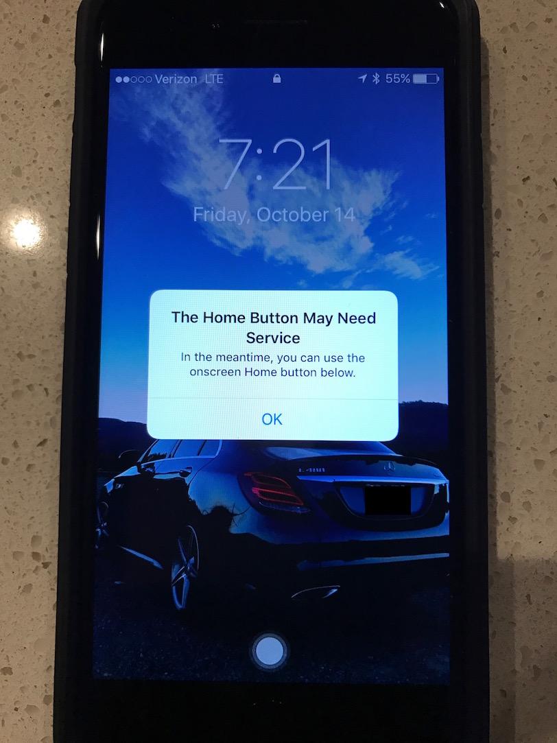 כפתור המגע הוירטואלי ב-iPhone 7 (מקור: Mac Rumors)