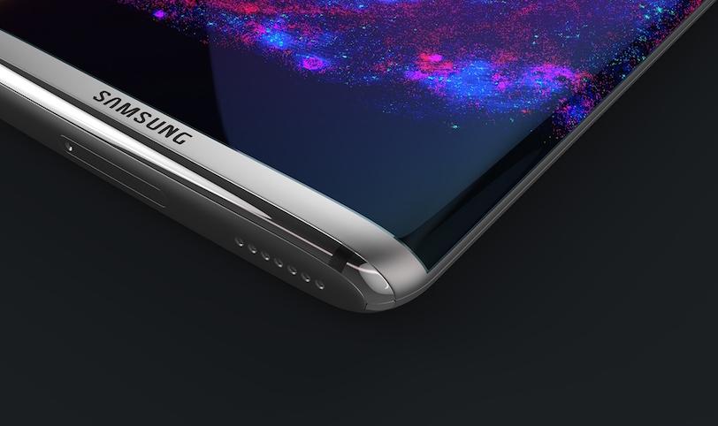 קונספט למכשיר הדגל Galaxy S8 (מקור: Steel Drake, אתר Behance.net)
