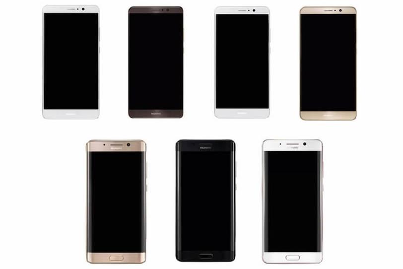 Huawei Mate 9 עם מסך שטוח בשורה העליונה ועם ומסך קמור בשורה התחתונה (הדלפה)