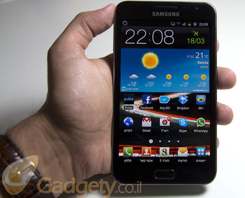 מכשיר ה-Galaxy Note המקורי, שהוכרז ב-2011 (צילום: גאדג'טי)