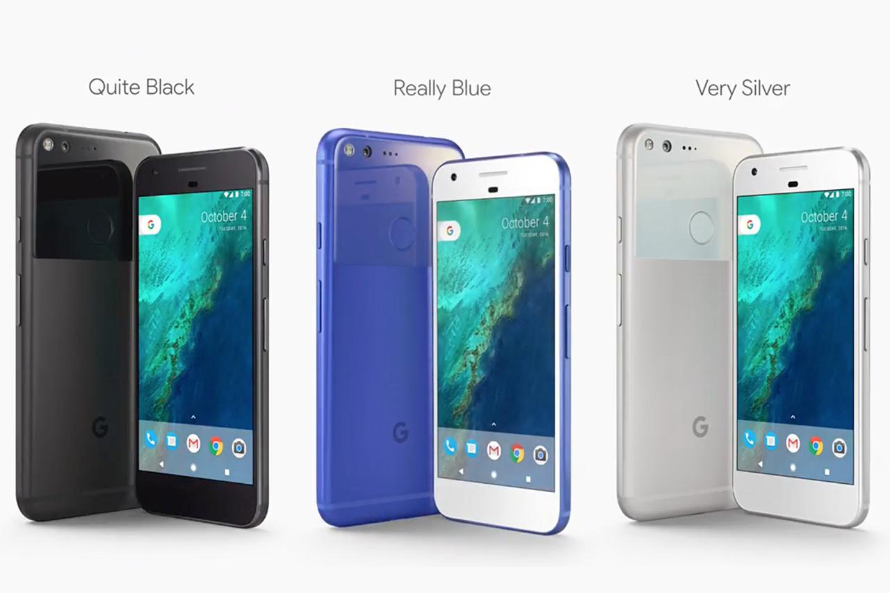 Google Pixel ו-Google Pixel XL בצבעים (תמונה: גוגל)