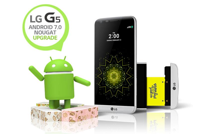 עדכון אנדרואיד 7.0 ל-LG G5 (תמונה: LG)