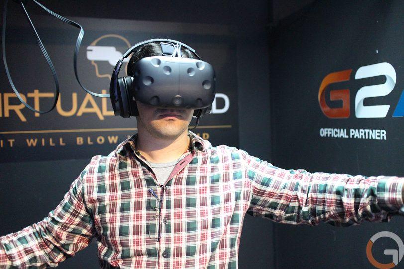 חווית מציאות מדומה ב-Virtual World (צילום: גאדג'טי)