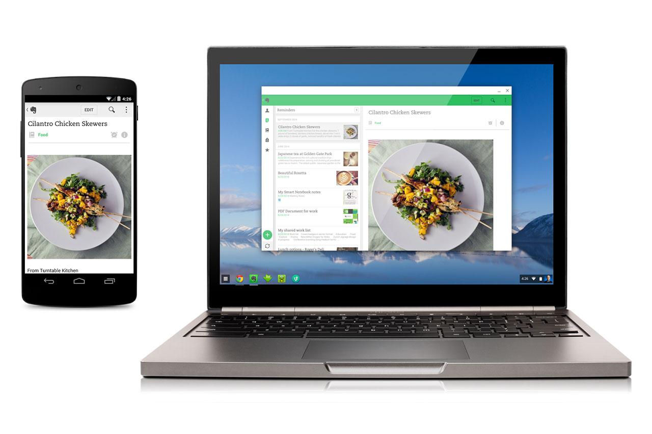 אפליקציית Evernote בסמארטפון וב-Chrome OS