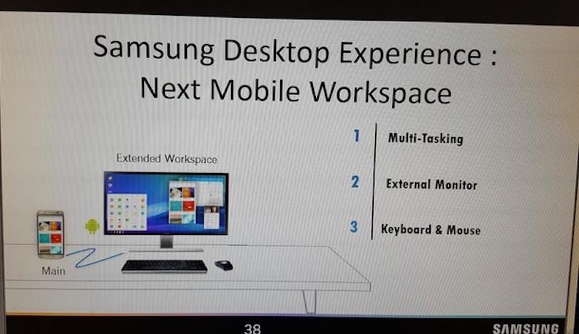 האם פונקציית Desktop Experience תגיע יחד עם סדרת Galaxy S8? (מקור: הדלפה)
