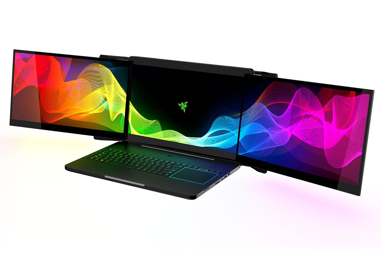 מחשב גיימינג עם שלושה מסכים מבית Razer