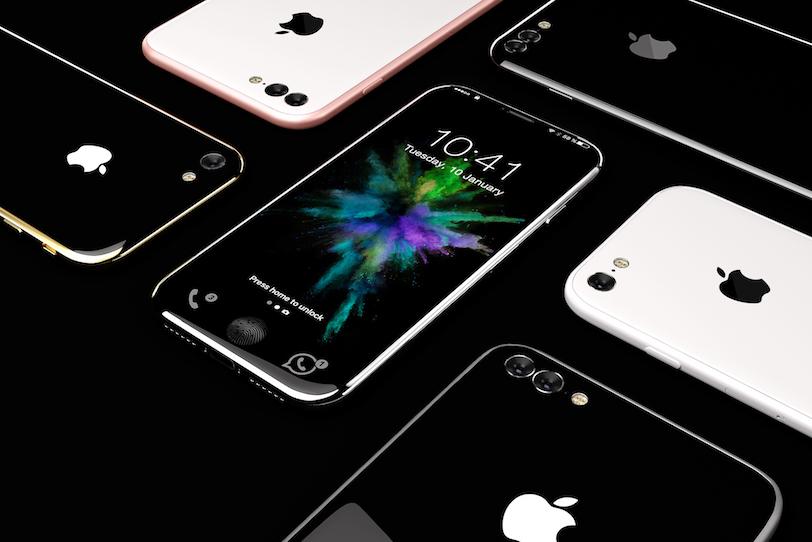 תמונת קונספט למכשיר ה-iPhone 8 עם מסך נטול שוליים (מקור: Handy)