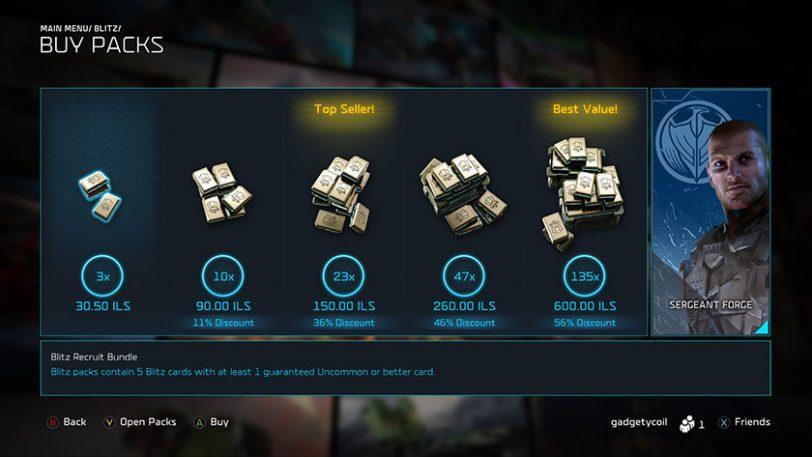 חנות בתוך מצב Blitz במשחק Halo Wars 2