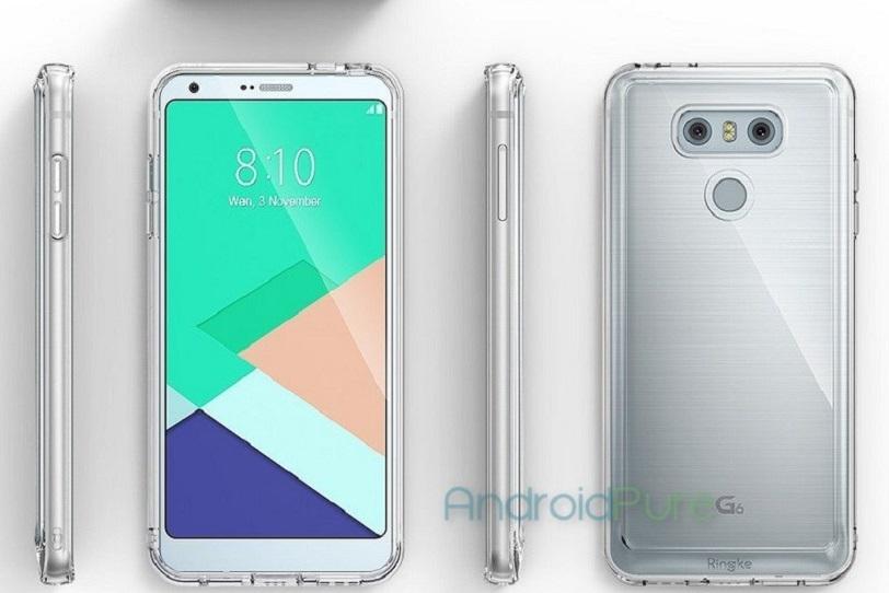 כיסוי ל-LG G6 כפי שדלף לרשת