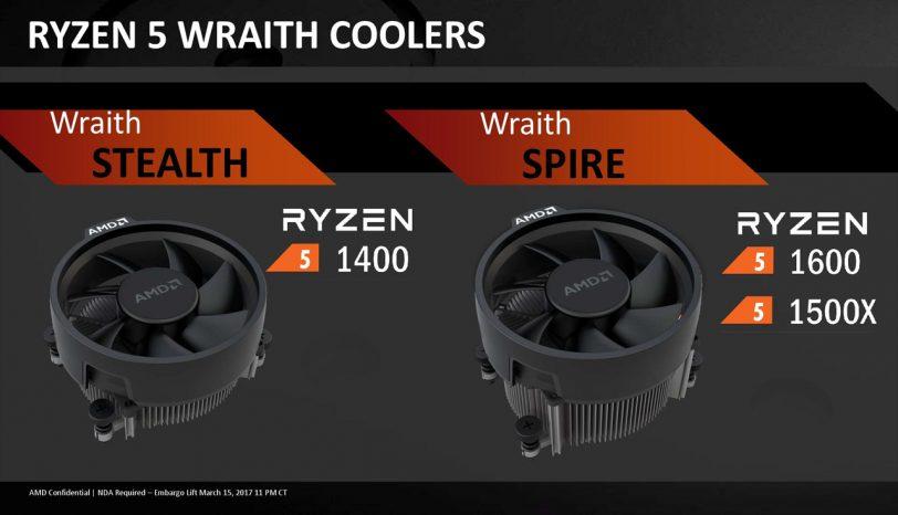 מעבדי Ryzen 5 (מקור: מצגת AMD)