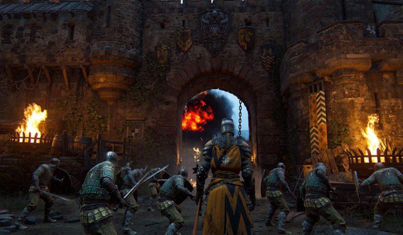 סצינה במערה מתוך המשחק For Honor