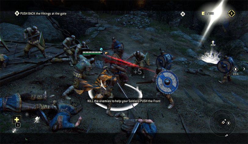סצינת קרב מתוך המשחק For Honor
