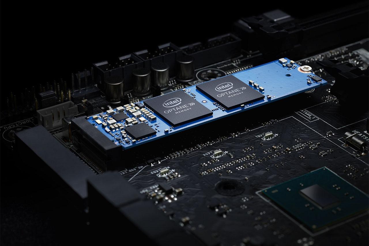 """זיכרון מטמון מסוג Optane של אינטל (תמונה: יח""""צ Intel)"""