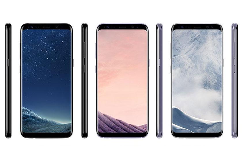 סמארטפון Galaxy S8 בצבעים (הדלפה: evleaks)